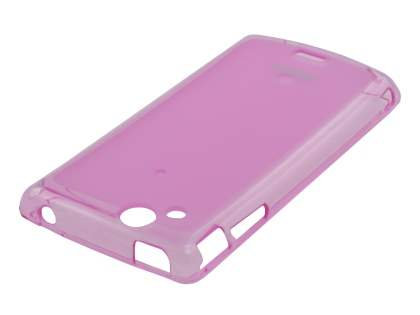 REMAX Sony Ericsson XPERIA Arc/Arc S Frosted TPU Case plus Screen Protector - Frosted Pink