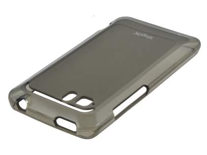 KingOK HTC Velocity 4G Frosted TPU Case plus Screen Protector - Frosted Grey