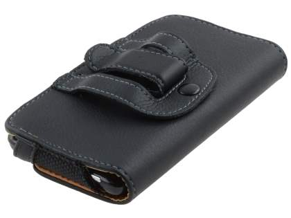 HTC Velocity 4G Synthetic Leather Belt Pouch - Classic Black
