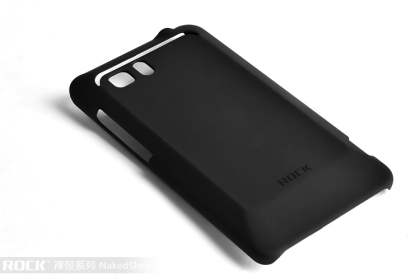 ROCK Nakedshell Rubberised Case for HTC Velocity 4G - Classic Black Hard Case