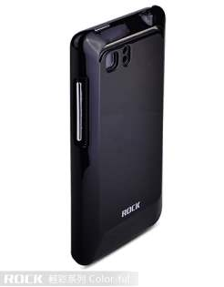 ROCK Nakedshell Colour Case for HTC Velocity 4G - Glossy Black Hard Case