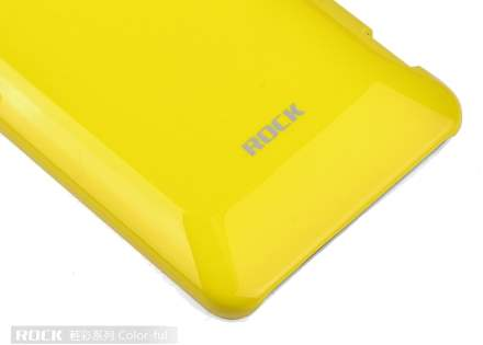 ROCK Nakedshell Colour Case for HTC Velocity 4G - Glossy Yellow