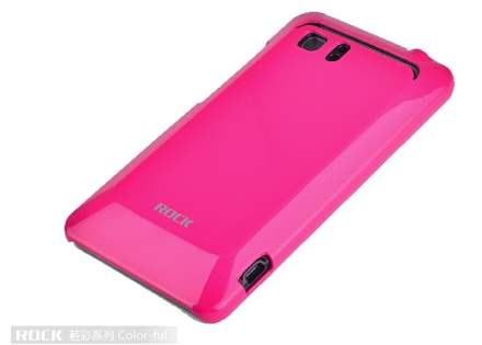 ROCK Nakedshell Colour Case for HTC Velocity 4G - Glossy Pink