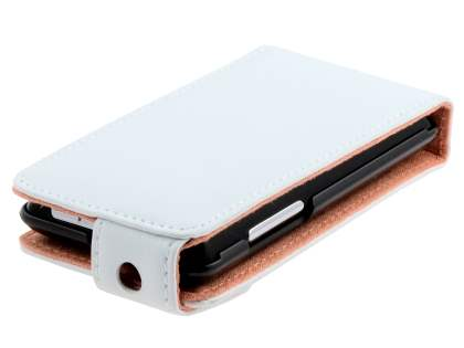 HTC Aria Genuine Leather Flip Case - White