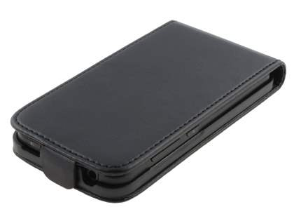 LG Optimus Black P970 Slim Synthetic Leather Flip Case - Black