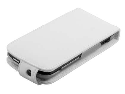 HTC Sensation Genuine Leather Flip Case - White