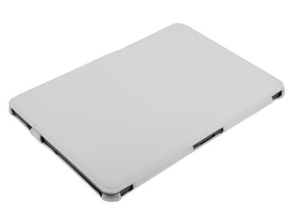 Premium Samsung Galaxy Tab 10.1 Slim Synthetic Leather Flip Case with Multi-Angle Tilt Stand - White