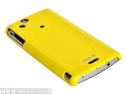 ROCK Nakedshell Colour Case for Sony Ericsson XPERIA Arc/Arc S - Glossy Yellow Hard Case