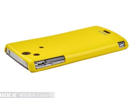 ROCK Nakedshell Colour Case for Sony Ericsson XPERIA Arc/Arc S - Glossy Yellow