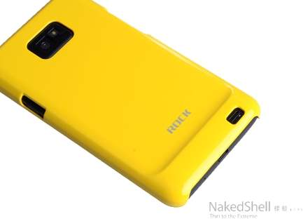 ROCK Nakedshell Colour Case for Samsung I9100 Galaxy S2 - Glossy Yellow