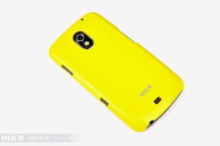 ROCK Nakedshell Glossy Colour Case for Samsung I9250 Google Galaxy Nexus - Glossy Yellow Hard Case