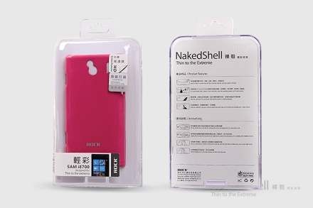 ROCK Nakedshell Glossy Colour Case for Samsung I8700 Omnia 7 - Glossy Pink