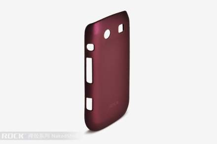 ROCK Nakedshell Case for BlackBerry Torch 9860 - Burgundy Red Hard Case