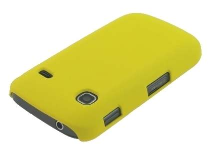 Samsung Galaxy Gio S5660 Rubberised Colour Case - Canary Yellow