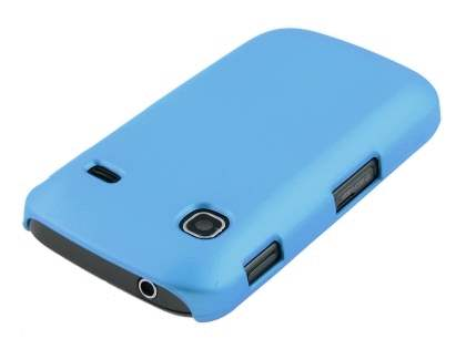 Samsung Galaxy Gio S5660 Rubberised Colour Case plus Screen Protector - Sky Blue