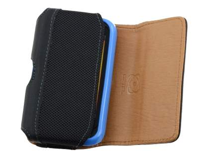 HTC Wildfire S Synthetic Leather Belt Pouch (Bumper Case Compatible)