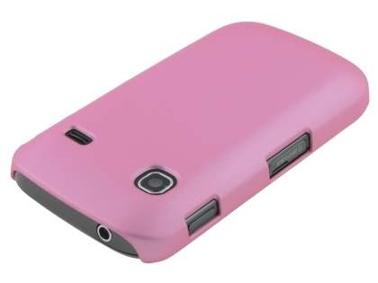 Samsung Galaxy Gio S5660 Rubberised Colour Case plus Screen Protector - Baby Pink