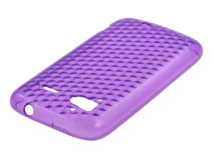 HTC Sensation TPU Gel Case - Diamond Purple