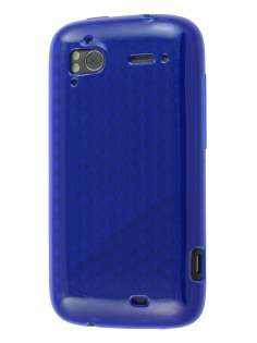 HTC Sensation TPU Gel Case - Diamond Blue