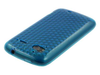 HTC Sensation TPU Gel Case - Diamond Light Blue