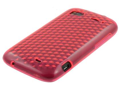 HTC Sensation TPU Gel Case - Diamond Pink