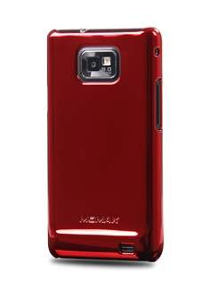MOMAX Ultra-Thin Metallic Case for Samsung I9100 Galaxy S2 - Metallic Red