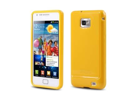 MOMAX iCase Shine plus Screen Protector for Samsung I9100 Galaxy S2 - Canary Yellow