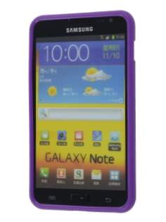 Samsung I9220 Galaxy Note Frosted Colour TPU Gel Case - Purple