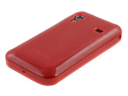 Samsung Galaxy Ace S5830 Frosted Colour TPU Gel Case - Lust Red
