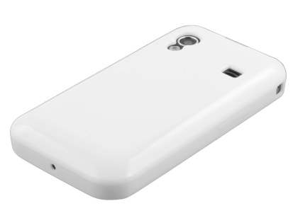 Samsung Galaxy Ace S5830 Frosted Colour TPU Gel Case - Pearl White