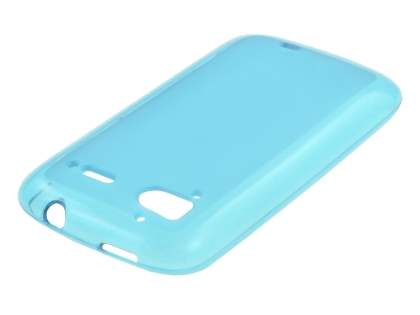 HTC Sensation TPU Gel Case - Frosted Blue