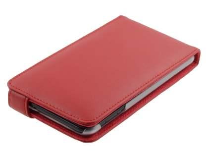 Samsung I9220 Galaxy Note Genuine Leather Flip Case - Red