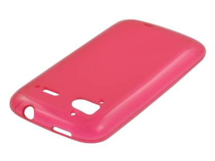 HTC Sensation TPU Gel Case - Frosted Red