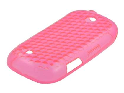 Samsung I5500 Galaxy 5 Corby Diamond TPU Case - Pink Soft Cover