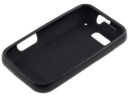 Motorola DEFY ME525 Frosted Colour TPU Gel Case - Black