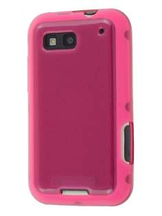Motorola DEFY ME525 Frosted Colour TPU Gel Case - Pink Soft Cover