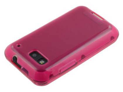 Motorola DEFY ME525 Frosted Colour TPU Gel Case - Pink