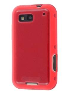 Motorola DEFY ME525 Frosted Colour TPU Gel Case - Red Soft Cover