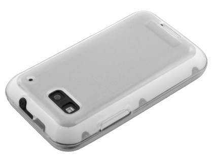 Motorola DEFY ME525 Frosted Colour TPU Gel Case - Clear