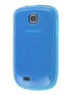 Samsung S5570 Galaxy Mini Frosted Colour TPU Gel Case - Blue