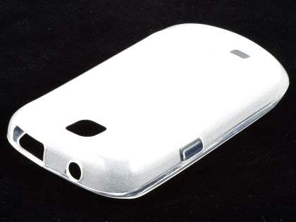 Samsung S5570 Galaxy Mini Frosted Colour TPU Gel Case - Clear