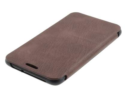 Samsung I9220 Galaxy Note Premium Book-Style Slim Synthetic Leather Flip Case - Brown