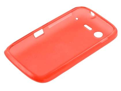 HTC Desire S Frosted Colour TPU Gel Case - Red