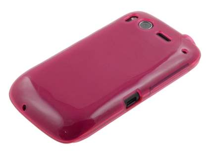 HTC Desire S Frosted Colour TPU Gel Case - Pink