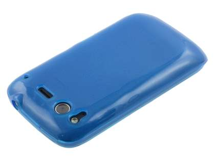 HTC Desire S Frosted Colour TPU Gel Case - Blue