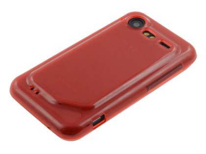 HTC Incredible S Frosted Colour TPU Gel Case - Red