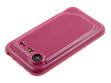 HTC Incredible S Frosted Colour TPU Gel Case - Pink
