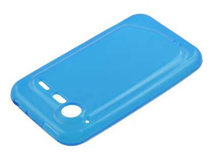 HTC Incredible S Frosted Colour TPU Gel Case - Blue