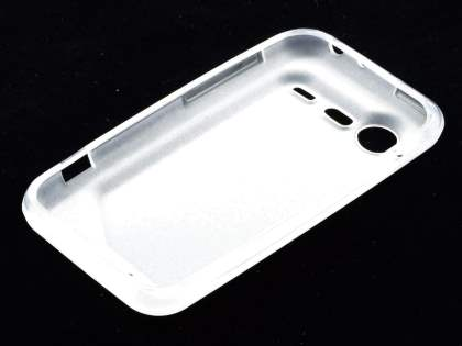HTC Incredible S Frosted Colour TPU Gel Case - Clear