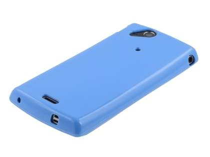 Sony Ericsson XPERIA Arc/Arc S Frosted Colour TPU Gel Case - Blue